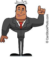 businessperson, cartone animato, ubriaco
