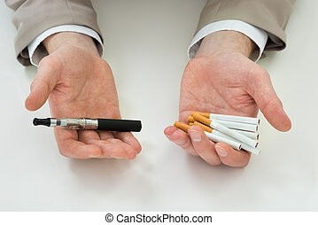 Businessperson Hand With Electronic Cigarette