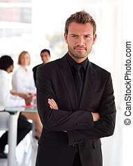 businessperson, jovem, charming