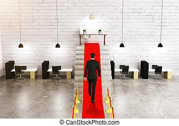 Businessperson on red carpet