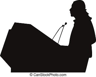 Business/political speaker silhouette