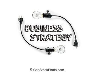 businesss, estrategia, frase, y, foco, letra de mano, mercadotecnia, planificación