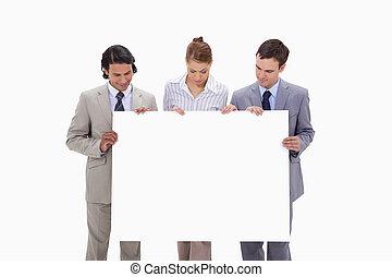 businessteam, 手, ∥(彼・それ)ら∥, 印, 見る, ブランク