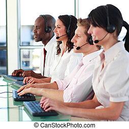 businessteam, arbeitende , brunnen, zusammen