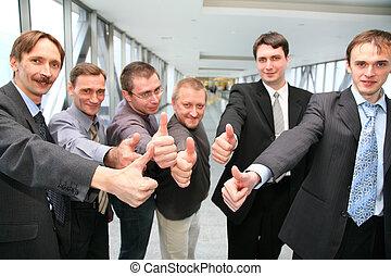 businessteam, fingern, ok