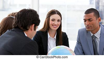 Businessteam having a brainstorming