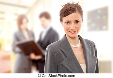 Businessteam. Portrait of a businesswoman.