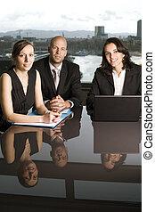 Businessteam - Business team of three people