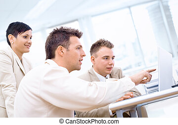 Businessteam with laptop