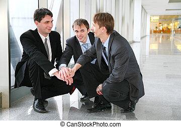 businessteam, zagadka, siła robocza
