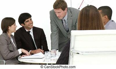 businesswoma, gros plan, séduisant