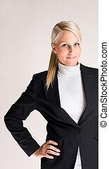 businesswoman., 若い, 痛みなさい