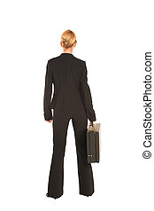 Businesswoman #231 - Blonde business lady in formal black ...