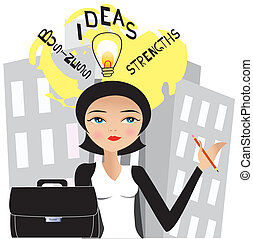 businesswoman 6 - It is an illustration Eps file