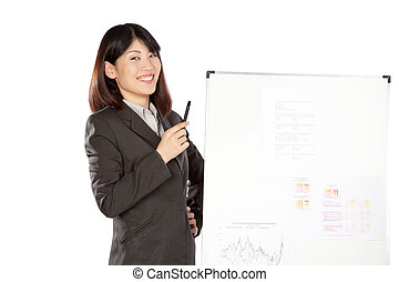Businesswoman And Businessman Giving Presentation