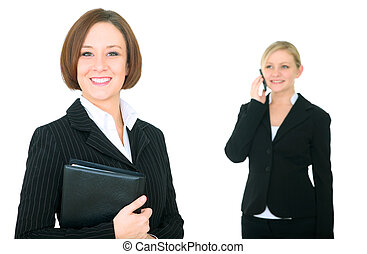 Businesswoman And Coworker Isolated