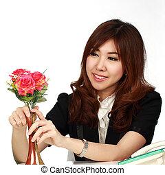 Businesswoman and Florist