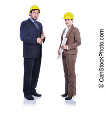 businesswoman and man