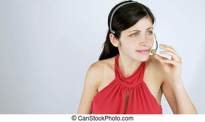 Businesswoman angry on the phone