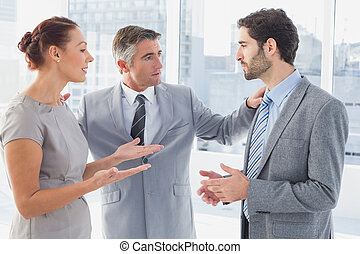 Businesswoman arguing
