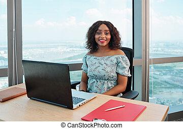 Businesswoman at office desk