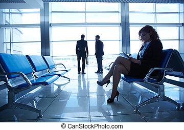 Businesswoman at the airport
