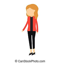 Businesswoman avatar cartoon