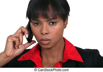 businesswoman, betrokken