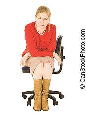 businesswoman, blonde
