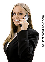 Businesswoman calling on phone