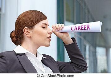 "Businesswoman. ""Career"" concept."