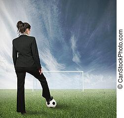 Businesswoman challenge