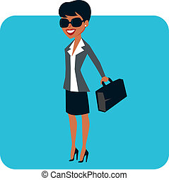 Businesswoman character - Professional cartoon character