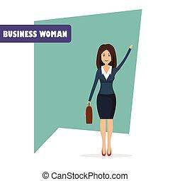 Businesswoman character vector illustration in flat design