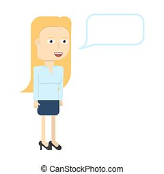 Businesswoman characters smiling isolated.