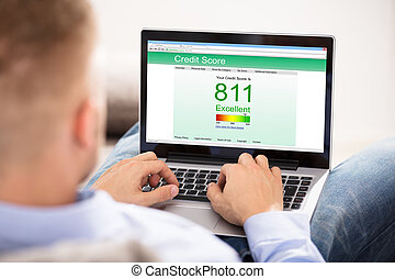 Businesswoman Checking Online Credit Score