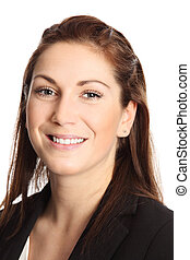 Businesswoman close up - A young professional businesswoman...
