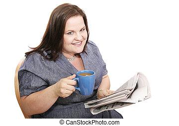Businesswoman - Coffee & News