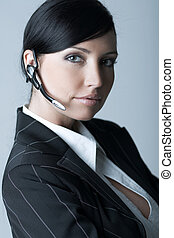 Businesswoman (Cold-Ver) - Beautiful brunette business woman...