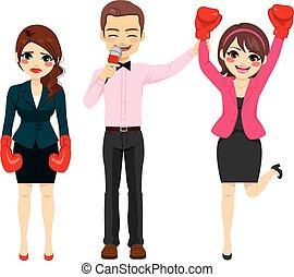 Businesswoman Combat Winner - Successful businesswoman...