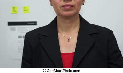 Businesswoman Cuts Personnel - Female office worker or...
