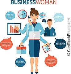 Businesswoman Design Concept