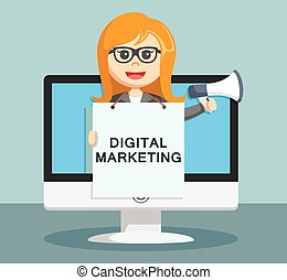 businesswoman digital marketing