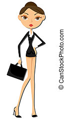 Businesswoman - Business Woman with Clipping Path