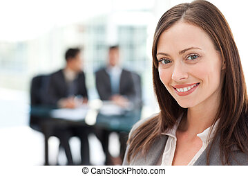 Businesswoman during a meeting