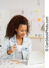 Businesswoman during work