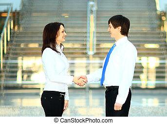businesswoman, en, klant