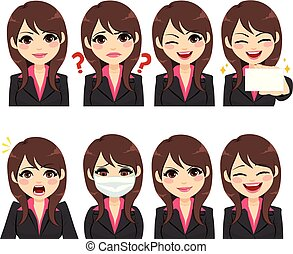 Businesswoman Expressions Avatar