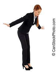 Businesswoman falling down