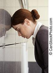 Businesswoman. Fatigue.